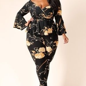 Sexy in Black and Gold floral- New!